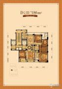 赛丽绿城慧园4室2厅2卫186平方米户型图
