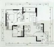 云顶澜山2室2厅1卫69平方米户型图