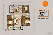 恒佳太阳城3室2厅2卫121平方米户型图