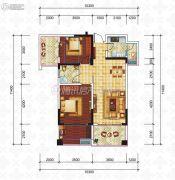 滨江国际2室2厅1卫80平方米户型图