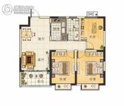 天章水岸国际・和园3室2厅1卫98平方米户型图