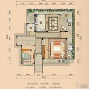 浪琴湾1室2厅1卫137平方米户型图