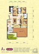 梦幻谷・�|方�A府3室2厅2卫143平方米户型图