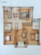乐清正大城3室2厅2卫90平方米户型图