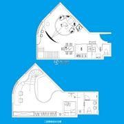 TOUCH悦城2室2厅2卫136平方米户型图