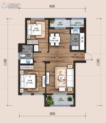 万科翡翠云台2室2厅1卫96平方米户型图