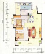 百丰花园2室2厅1卫85平方米户型图