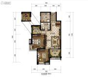 明康华庭阳光2室2厅1卫95平方米户型图