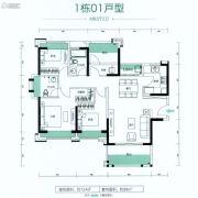 朗宁郡4室2厅2卫124平方米户型图