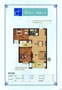 盛紫中央公园2室2厅1卫85平方米户型图