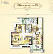 碧桂园・翡翠山3室2厅1卫89平方米户型图