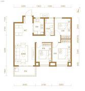 东湖金茂府3室2厅1卫92平方米户型图