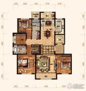 廊坊孔雀城悦府4室2厅2卫168平方米户型图