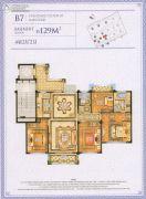 四季原著4室2厅2卫129平方米户型图