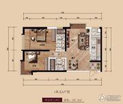 中广宜景湾・尚城2室2厅2卫107平方米户型图