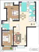 西固百合苑2室2厅2卫0平方米户型图