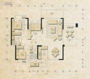 君和园3室2厅2卫124--126平方米户型图