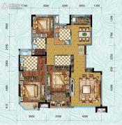 中铁逸都3室2厅2卫127平方米户型图