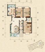 富杰・水岸家园3室2厅2卫134平方米户型图