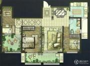 世茂香槟湖3室2厅1卫109平方米户型图