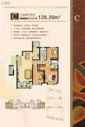 烟台开发区万达广场3室2厅2卫128平方米户型图