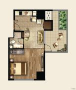 证大喜玛拉雅中心1室1厅1卫0平方米户型图