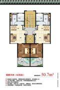 天境昆嵛中国院子1室1厅1卫50平方米户型图