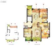 宏泰风花树3室2厅2卫137平方米户型图