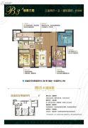 朗诗太湖绿郡3室2厅1卫94平方米户型图