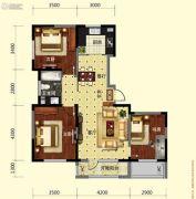 保利溪湖林语3室2厅1卫107平方米户型图