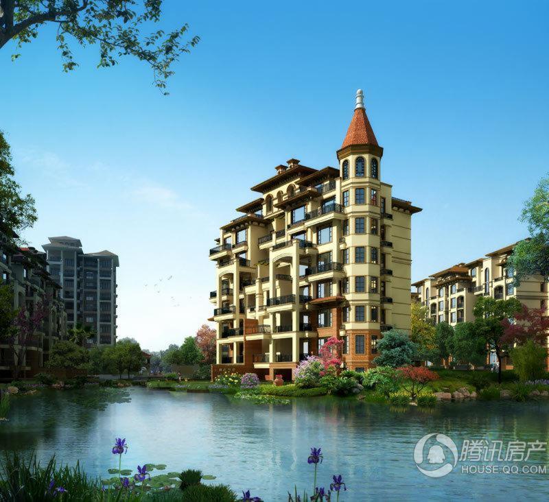 佳乐国际城沿河透视图