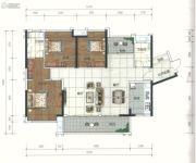 广佛颐景园4室2厅3卫126平方米户型图