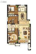 国赫天著小区3室2厅1卫115平方米户型图