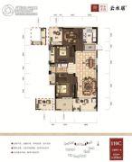 绿谷庄园3室2厅1卫110平方米户型图