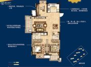 无锡孔雀城3室2厅2卫110平方米户型图