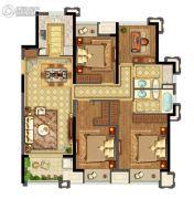 实地玫瑰庄园3室2厅2卫130平方米户型图