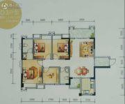 东峰国际公寓3室2厅2卫110平方米户型图