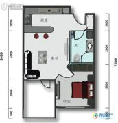 辽宁云基地院士海1室1厅1卫0平方米户型图