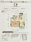 龙光・普罗旺斯3室2厅2卫89平方米户型图