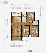 上林熙园3室2厅2卫117平方米户型图