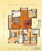 金通桂园 高层4室2厅3卫220平方米户型图