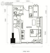 天祺佰潮汇1室1厅1卫59--64平方米户型图