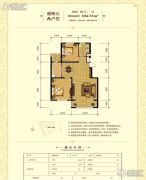 半山居2室2厅1卫104--105平方米户型图
