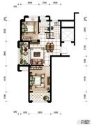 香河湾2室1厅1卫75平方米户型图