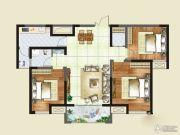 财信圣堤亚纳二期九臻3室2厅1卫104平方米户型图