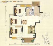 凯旋堡3室2厅1卫90--91平方米户型图