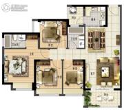 鑫月城4室2厅2卫108平方米户型图