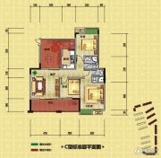 光瑞江都华宸3室2厅2卫107平方米户型图