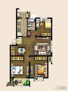 金东城世家3室2厅1卫111平方米户型图