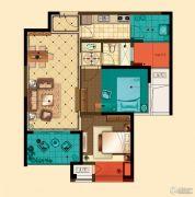 星河国际2室2厅1卫79平方米户型图
